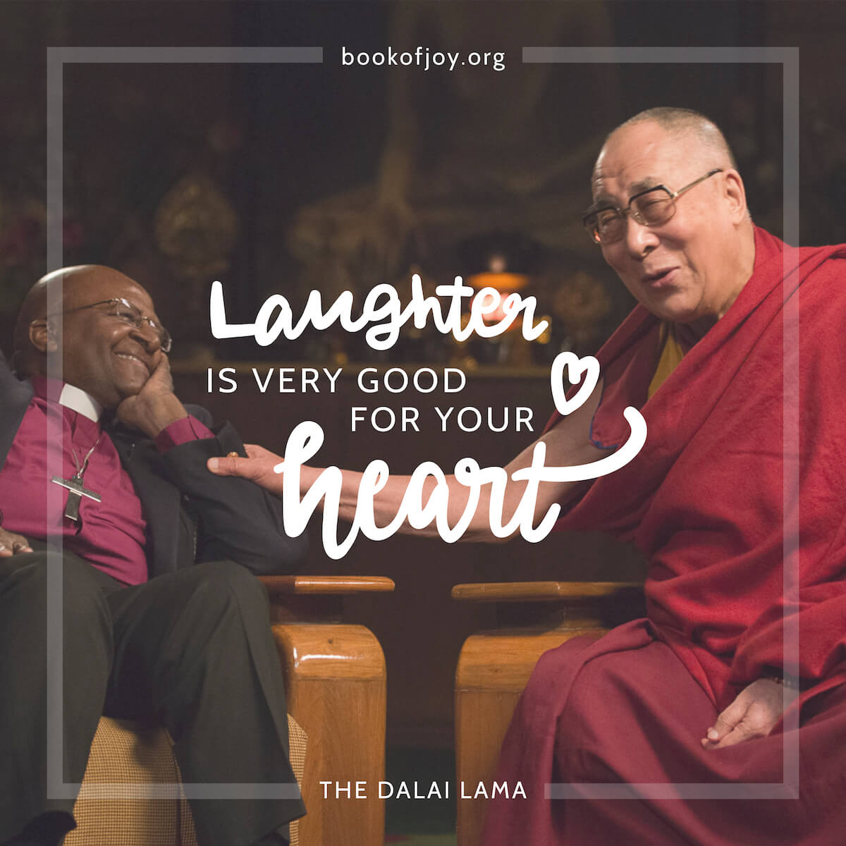 The Book of Joy Poster Campaign Lettering Desmond Tutu Dalai Lama