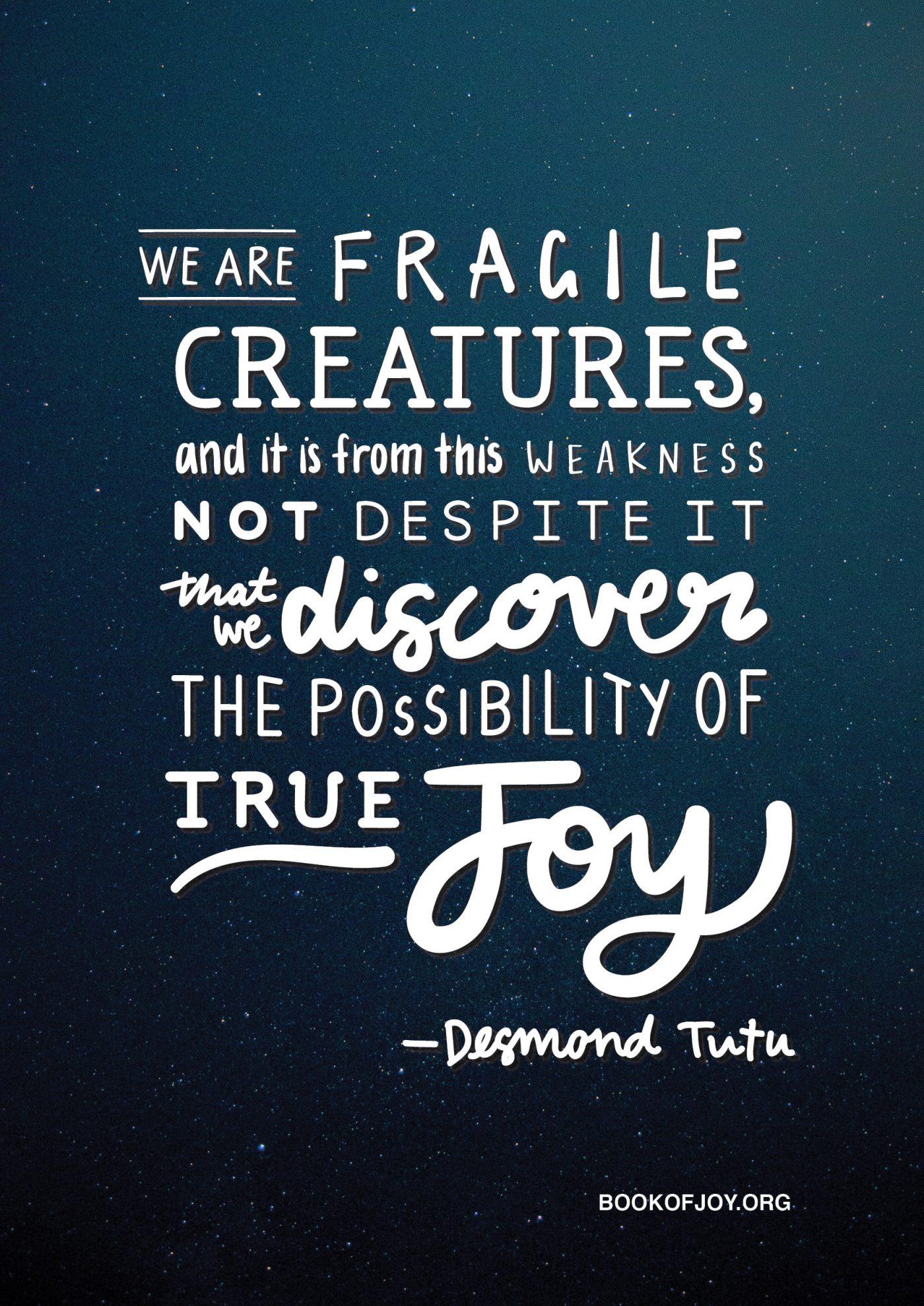 The Book of Joy Poster Campaign Lettering Desmond Tutu Dalai Lama