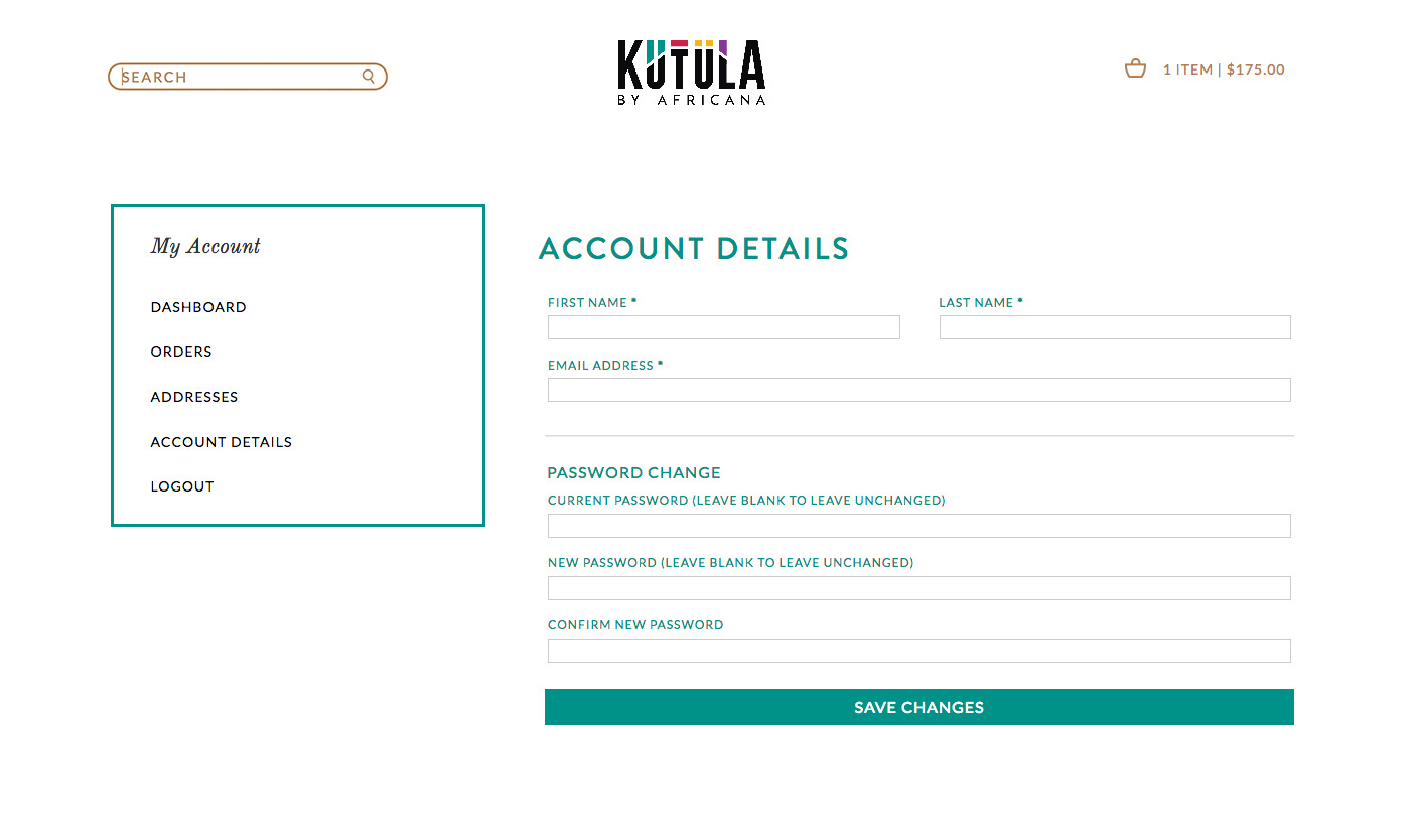 Kutula website account
