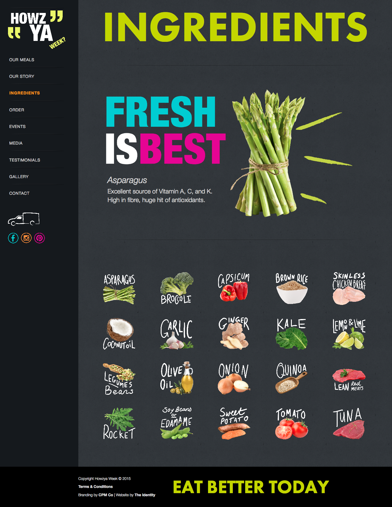 Howzya Week Food Ecommerce Fresh Business Bold Website Design Brand Development Identity Division Lis Dingjan