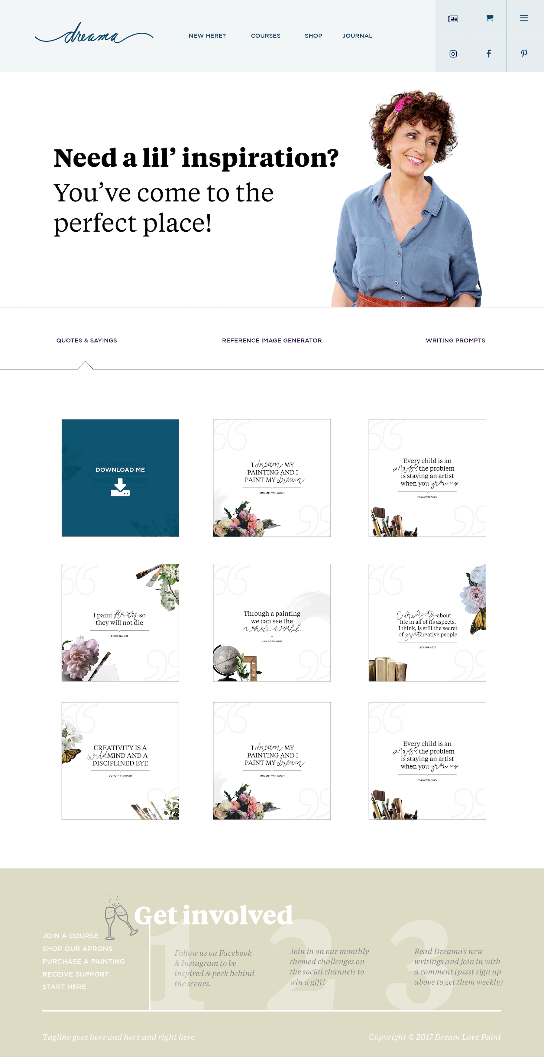 Dreama Tolle Perry Website Design Develpoment UX UI Artists Website Identity Division Co Studio