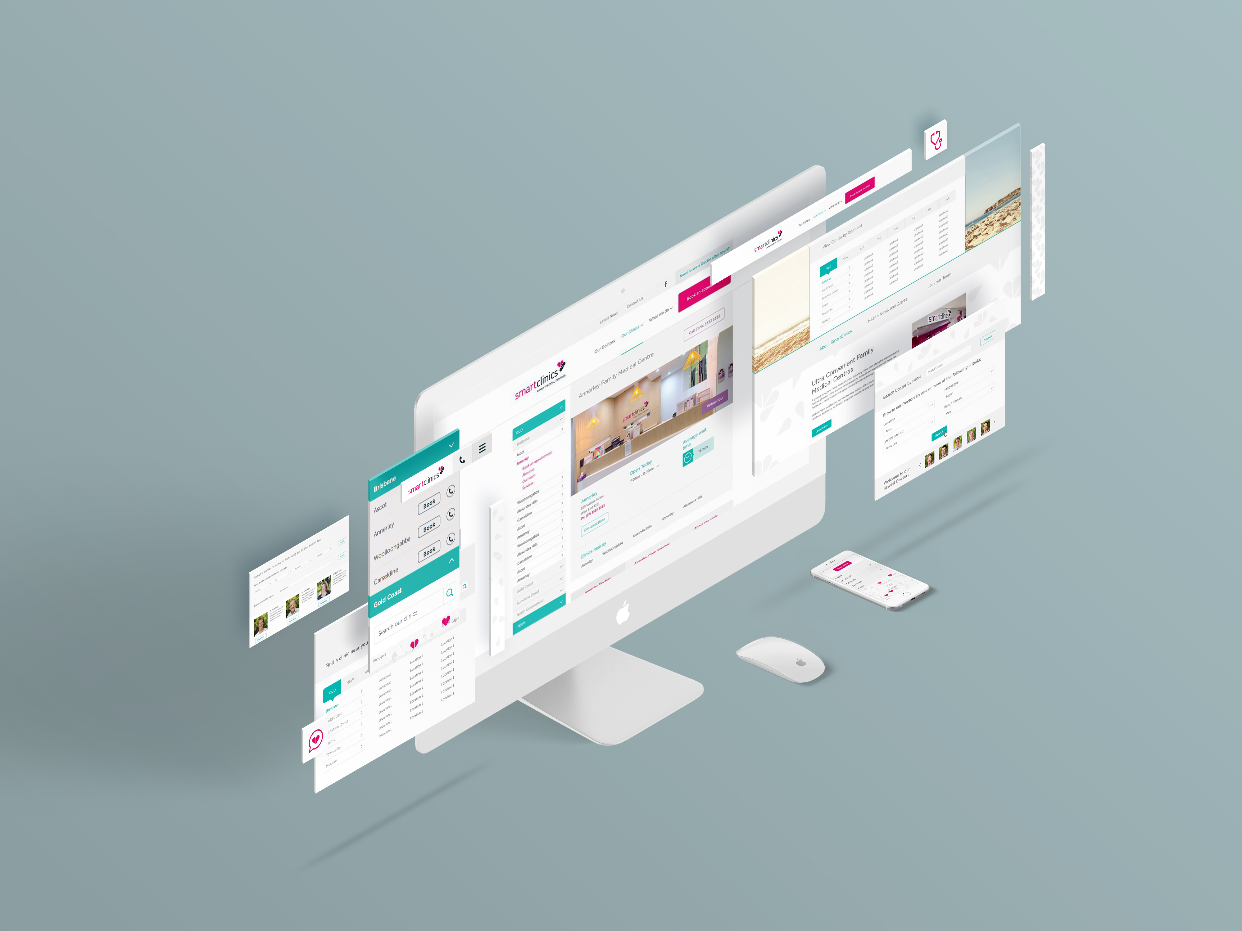 Smart Clinics Brisbane Australia Website Design & Development Identity Division Co Studio