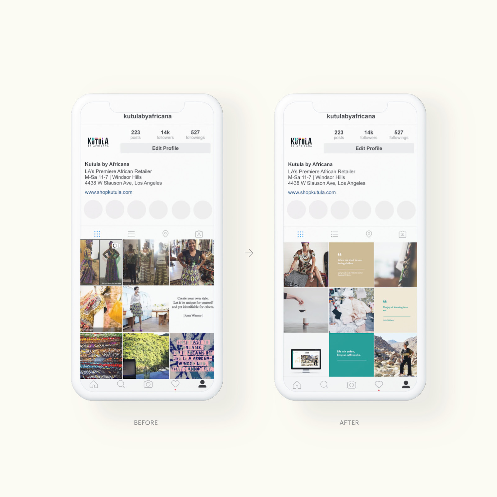 Identity Division - Social Media Design Instagram Layout Content Strategy Creation