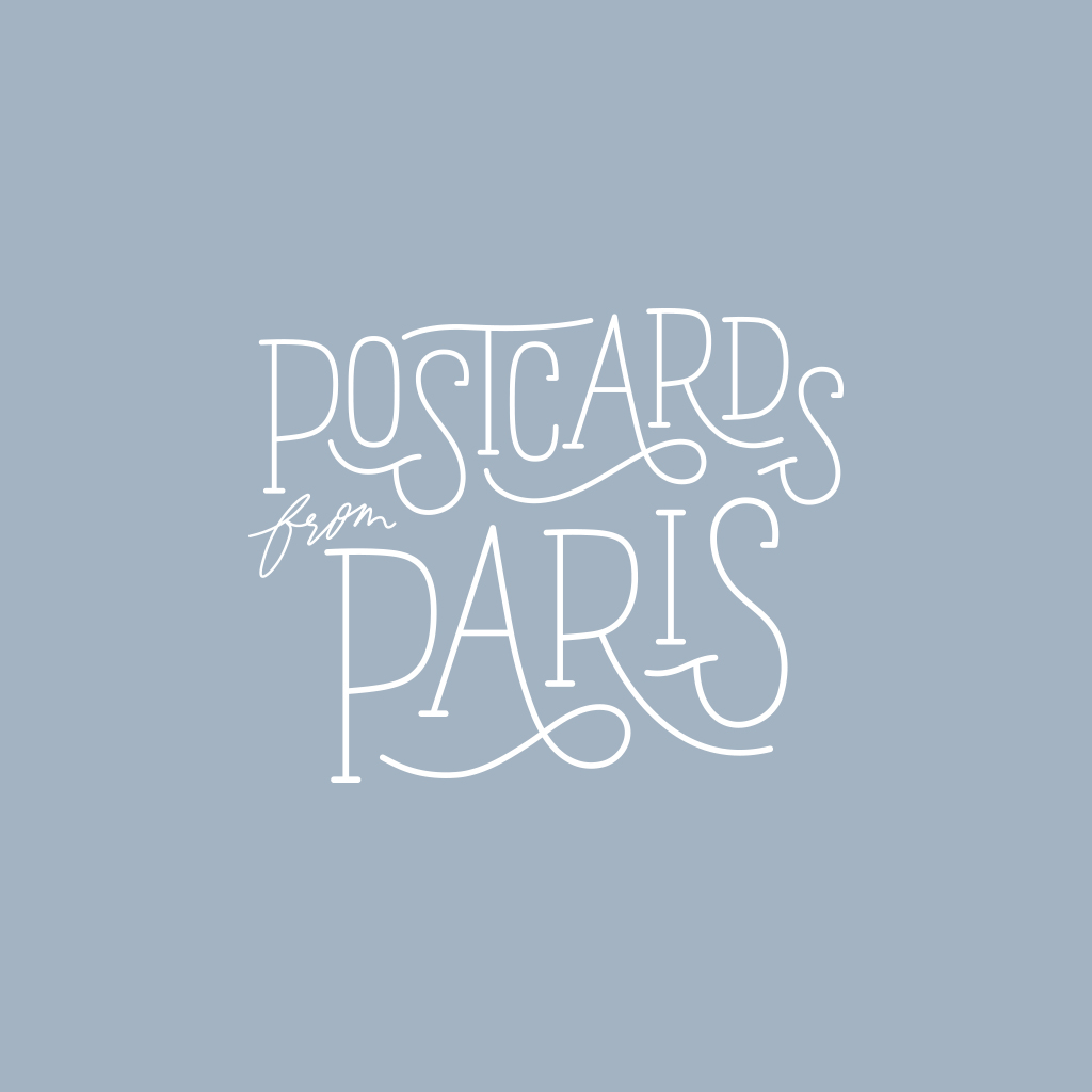Postcards from Paris Logo Design