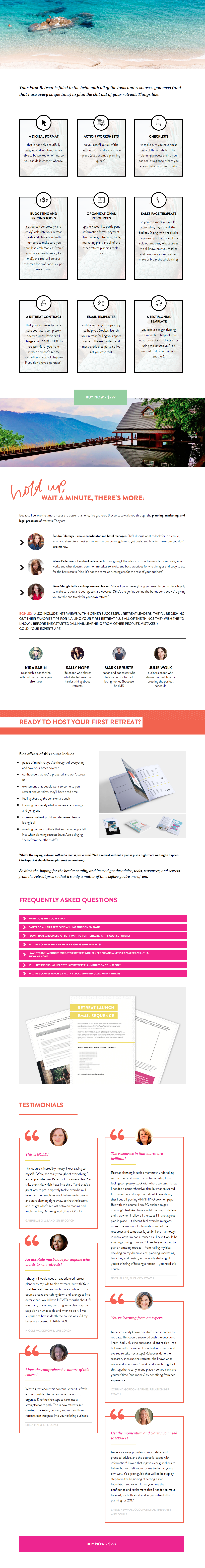 Your First Retreat Sales Page Design - Uncage your business - The Uncaged Life - Identity Division Agency